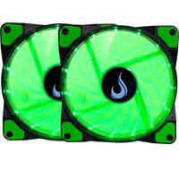 Kit com 2 Cooler Fan Rise Mode, 120mm, Led Verde - Rm-wn-01-bg