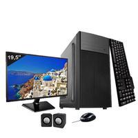 Computador Completo Icc Intel Core I3 4gb Hd 250gb Windows 10 Monitor 19
