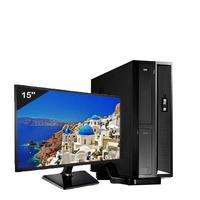 Mini Computador ICC SL2383Dm15 Intel Core I3 8gb HD 2TB DVDRW Monitor 15 Windows 10