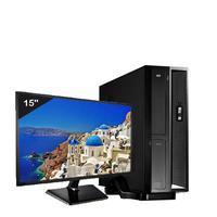 Mini Computador Icc Sl1883sm15 Intel Dual Core 8gb HD 2tb Monitor 15 Windows 10