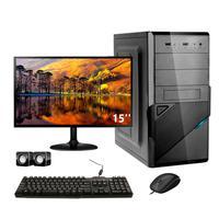 Computador Completo Corporate I3 4gb 240gb Ssd Dvdrw Windows 10 Monitor 15