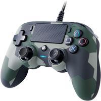 Controle Nacon Wired Compact Controller Camo Green (com Fio, Camuflado Verde) - Ps4 E Pc