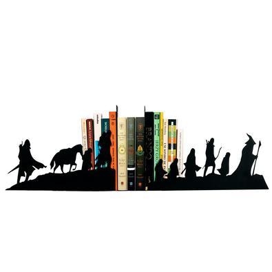 Suporte De Livros Para Organização Do Bibliocanto Geek   Mod : Senhor Dos Anéis   Cor: Preto