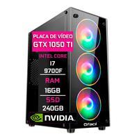 Pc Gamer Fácil, Intel Core I7 9700f, 16gb Ddr4, 2666 Mhz, Geforce Gtx 1050ti 4gb, Ssd 240gb, Fonte 500w