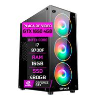 Pc Gamer Fácil, Intel Core I7 9700f, 16gb, Geforce Gtx 1650 4gb, Ddr4, Ssd 480gb, Fonte 500w