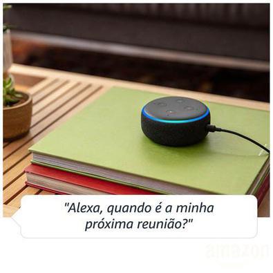 Smart Speaker Amazon Com Alexa Preto - Echo Dot