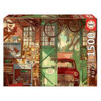 Puzzle 1500 Peças Garagem Vintage - Educa - Importado