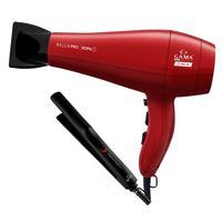 Kit gama - secador bella pro ion 2100w 220v + prancha eleganza plus 210 graus biv