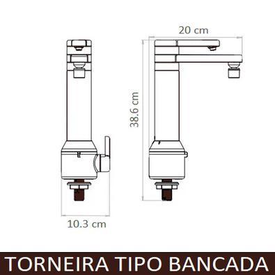 Torneira Puravitta Bancada Eletrônica com Filtro- Hydra