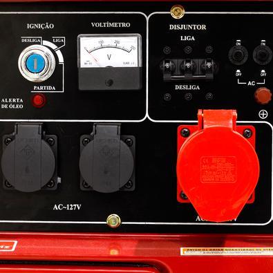 Gerador De Energia A Diesel Silenciado Trifásico 8kva 110-220v Partida Elétrica 60hz - Nd9000es3 - Nagano