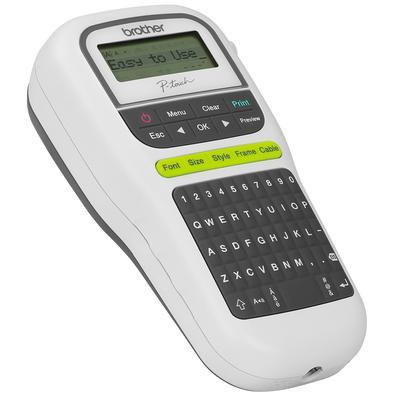 Rotulador Eletrônico Brother Teclado QWERTY Display Gráfico 14 Molduras 15 Caracteres - PT-H110