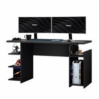 Mesa Para Computador / Gamer Mx Preto Com 5 Prateleiras E Gancho Para Headset