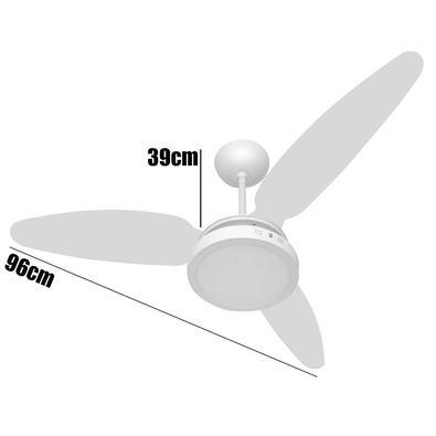 Ventilador Teto Wind Light Silent Plafon Led 18w Ponente 220v