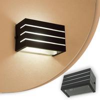 Arandela Frisada Luminaria Preta Para Muro Parede Externa G9