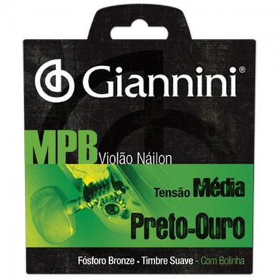 Encordoamento Para Violao Genwbg Serie Mpb Nylon Media Giannini