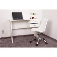 Kit Escrivaninha Com Gaveteiro Branca e 01 Cadeira Eiffel Office - Branca