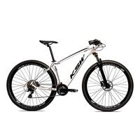 Bicicleta Aro 29 Ksw Cambios Gta 27 Vel Freio Disco Hidráulica E Trava - 21 polegadas - Branco/preto