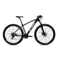 Bicicleta Aro 29 Ksw Cambios Gta 27 Vel Freio Disco Hidráulica E Trava - 19 polegadas - Preto/prata