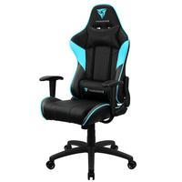 Cadeira Gamer Office Giratória Com Elevação A Gás Ec3 H01 Preto Ciano - Thunderx3
