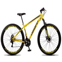 """Bicicleta Aro 29 Dropp Sport 21v Suspensão E Freio A Disco - Amarelo/preto - 17"""" - 17"""""""