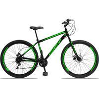 Bicicleta Aro 29 Dropp Sport 21v Garfo Rigido, Freio A Disco - Preto/verde - 19'' - 19''