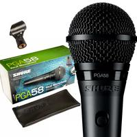 Kit 3 Microfones Shure Pga58 Lc Cardioide + Espumas Pga 58