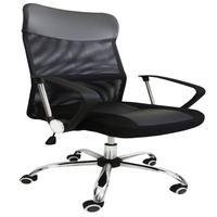 Cadeira Escritório Presidente Giratória Preto Regulagem De Altura A Gás Tela Pelegrin Pel-8009 - 9015