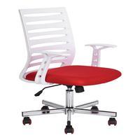 Cadeira Diretor Pelegrin Pel-bf57 Branca E Vermelha