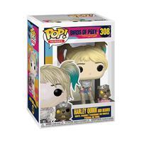 Boneco Funko Pop Birds Of Prey Harley Quinn With Beaver 308