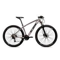 Bicicleta Alumínio Ksw Shimano Altus 24 Vel Freio Hidráulico E Suspensão Com Trava Krw18 - 19'' - Prata/preto