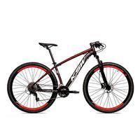 Bicicleta Alum 29 Ksw Cambios Gta 27 Vel Freio Disco Hidráulica - 17´´ - Preto/vermelho