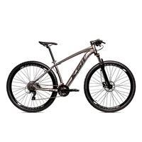 Bicicleta Alumínio Ksw Shimano Altus 24 Vel Freio Hidráulico E Suspensão Com Trava Krw18 - 17´´ - Grafite/preto Fosco
