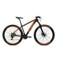Bicicleta Alumínio Aro 29 Ksw 24 Velocidades Freio A Disco Krw16 - 17'' - Preto/laranja Fosco