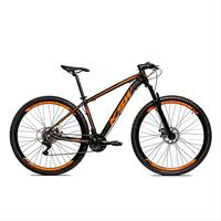 Bicicleta Alumínio Aro 29 Ksw Shimano Tz 24 Vel Ltx Krw20 - 15.5´´ - Preto/laranja Fosco