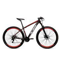 Bicicleta Alumínio Ksw Shimano Altus 24 Vel Freio Hidráulico E Suspensão Com Trava Krw18 - 19´´ - Preto/vermelho