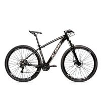 Bicicleta Alum 29 Ksw Cambios Gta 24 Vel A Disco Ltx - 19'' - Preto/prata