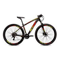 Bicicleta Alum 29 Ksw Cambios Gta 24 Vel A Disco Ltx Hidráulica - Preto/amarelo E Vermelho - 15.5´´