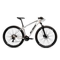 Bicicleta Alumínio Aro 29 Ksw 24 Velocidades Freio  Hidráulico Krw17 - 19´´ - Branco/preto