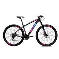Bicicleta Alum 29 Ksw Cambios Gta 24 Vel A Disco Ltx - Preto/azul E Rosa - 15.5''