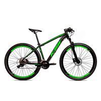 Bicicleta Alum 29 Ksw Cambios Gta 27 Vel Freio Disco Hidráulica - 17´´ - Preto/verde Fosco