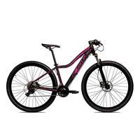 Bicicleta Alumínio Ksw Shimano Altus 24 Vel Freio Hidráulico E Suspensão Com Trava Krw18 - 15.5´´ - Preto/rosa