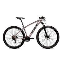 Bicicleta Alumínio Ksw Shimano Altus 24 Vel Freio Hidráulico E Cassete Krw19 - 21´´ - Prata/preto