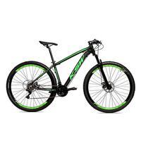 Bicicleta Alum 29 Ksw Cambios Gta 24 Vel A Disco Ltx - 21'' - Preto/verde Fosco