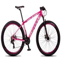 Bicicleta Aro 29 Dropp Rs1 Pro 21v Tourney Freio Disco/trava - Rosa/branco - 15