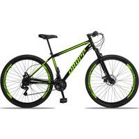 Bicicleta Aro 29 Dropp Sport 21v Suspensão E Freio A Disco - Preto/amarelo - 19´´ - 19´´