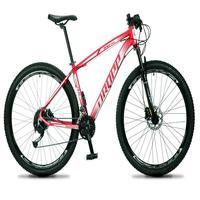 Bicicleta Aro 29 Dropp Rs1 Pro 27v Alivio, Fr. Hidra E Trava - Vermelho/branco - 17´´ - 17´´