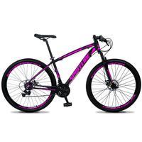 Bicicleta Aro 29 Spaceline Vega 21v Shimano E Freio A Disco - Preto/rosa - 19''