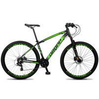 Bicicleta Aro 29 Dropp Z4x 24v Susp C/trava Freio Hidraulico - Preto/verde - 15''