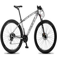 Bicicleta Aro 29 Dropp Rs1 Pro 24v Acera Freio Hidra E Trava - Cinza/branco - 15