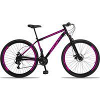 Bicicleta Aro 29 Dropp Sport 21v Suspensão E Freio A Disco - Preto/rosa - 17´´ - 17´´